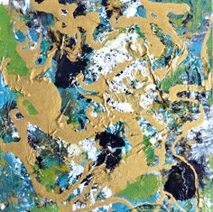STRANGE WORLD earthly colors original abstract by abscrapted, $35.00