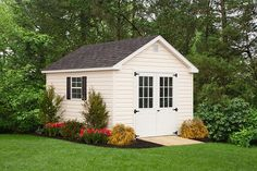 Beautiful 10x12 Cape Garden Shed from Liberty Storage Solutions. Vinyl Storage Sheds, Vinyl Sheds, Shed Storage, Home Tattoo, Architecture Details, Storage Solutions, Minimalist, Layout, Outdoor Structures