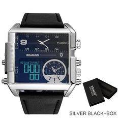 Dexter Square Military Big Face Infantry Digital Watch for Men – Technigadgets Mens Sport Watches, Luxury Watches For Men, Led Watch, Big Face, Big Men Fashion, Seiko Watches, Cool Watches, Fancy Watches, Vintage Watches