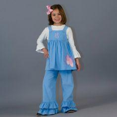 1/7/2014  Light Blue Cord Ballerina Slippers Pants Set
