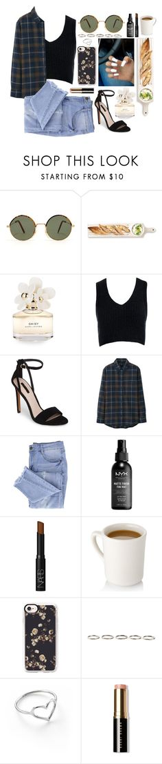"""""""☻☻☻"""" by xka-yax ❤ liked on Polyvore featuring Martha Stewart, Marc Jacobs, Sans Souci, Topshop, Uniqlo, Essie, NARS Cosmetics, Casetify, Henson and Jordan Askill"""