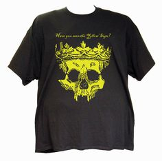 Yellow King T-Shirt by ValkyrieApparelTees on Etsy