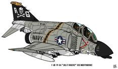 "This is a comic drawing of US Navy Fighter US Navy LTV A-7E Corsair II of the Attack squadron: VA-87 ""Golden Warriors"" From USS America This Marking is around 1970's Hope you like it! Cheers!"