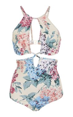 Bloom Floral-Print Swimsuit by Ephemera Trendy Swimwear, Swimwear Fashion, Casual Summer Outfits, Beach Outfits, Swimsuit Edition, Summer Wear, Summer Time, Floral Fashion, One Piece Swimsuit