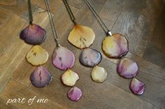 rose necklace- real flower jewelry, real flower necklace, real rose, epoxy resin jewelry, metal chain, pressed flower