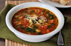 Tuscan Sausage and White Bean Soup from @Mel {Mel's Kitchen Cafe}