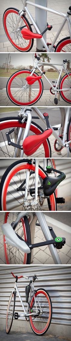 Not only does the Seatylock help secure your bike safely to any immovable object, it also ensures that even if the thief manages to break past the lock, they're going to have absolutely the most painful time making a getaway with your bike because the Seatylock, aside from being a bike lock, is also the bike saddle! BUY NOW!