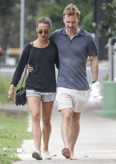 Michael Fassbender & Alicia Vikander Out and about in Sydney (December 4, 2014)