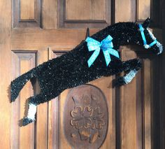 Items similar to Horse Wreath/Horse Head Wreath/Jumping Horse on Etsy Dressage Horses, Friesian Horse, Horse Head Wreath, Horse Crafts, Blue Bow, Horse Art, Craft Supplies, Bows, Wreaths