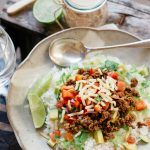 Okinawa Taco Rice is the most iconic Okinawa dish made from white rice topped with delicious taco mince, lettuce, avocado, and tomato salsa!