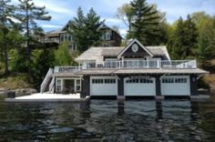 muskoka Lake Homes, Log Cabin Homes, Water House, Boat House, Boat Shed, Houseboat Living, Luxury Modern Homes, Dream Beach Houses, Garage Apartments
