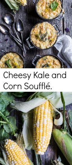 Cheesy Kale and Corn Soufflé | halfbakedharvest.com @hbharvest