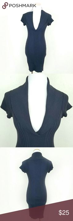 Charcoal Cowl V Neck Dress Charcoal Cowl V Neck Dress. Stretchy.  Short sleeves.  EUC  No Trade or PP  Bundle discounts  Offers Considered Derek Heart Dresses