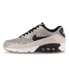 Nike WMNS Air Max 90 Premium White / Black / Gum Light Brown - Nike Womens