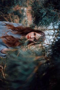 Model photography forest nature environment makeup hairstyle natural
