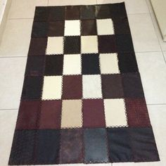 Handmade leather carpet- leather patchwork My Design ;)