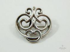 Vintage Art Nouveau Sterling Silver Swirl by IndigoEyesVintage - SOLD