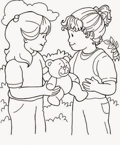 Espaço Educar desenhos para colorir : Dia do amigo