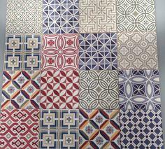 Fede patchwork fliser i format 13,2x13,2 cm #patchwork #fliser #klinker