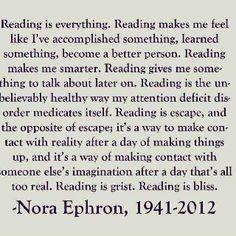 Nora Ephron #quote #books #reading