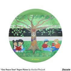 """Our Peace Tree"" Paper Plates"