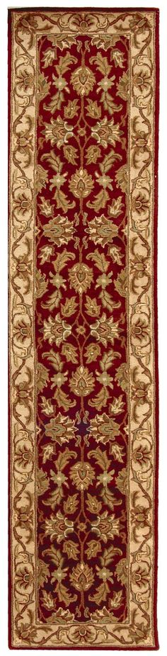 Amazon.com - Red & Ivory Hand-Tufted Wool Rug (2 ft. 3 in. x 12 ft. Runner) -