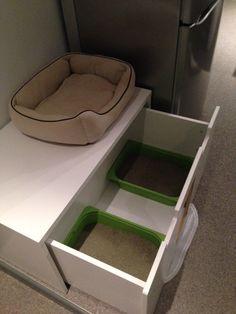 STUVA litterbox for 4 kitties