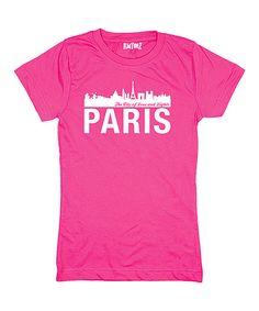 Raspberry 'Paris' Skyline Tee - Toddler & Girls by LC Trendz #zulily #zulilyfinds