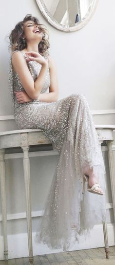 silver sequins | RK Bridal
