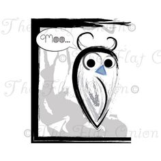 Check out this item in my Etsy shop https://www.etsy.com/listing/228965040/moo-over-owl-digital-artwork-confused