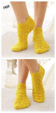 Knitted Socks Free Pattern, Crochet Socks, Knitted Slippers, Knit Or Crochet, Lace Knitting, Knitting Patterns Free, Knitting Socks, Knit Lace, Knit Socks
