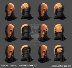 Arrow Season2 DeathStroke2 Helmet development by AndyPoonDesign on deviantART