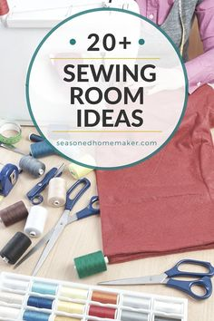 You don't need a huge home in order to have a sewing or craft room. Check out all of these creative ways that others are carving out a little space for their sewing and crafting. I think #20 is very clever. via @seasonedhome