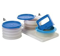 Tupperware | Hamburger Press and Keepers Set.  Earn products for free by hosting an online party. my.tupperware.com/smithcrystalb