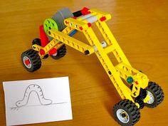 Worm-like movement mechanism build with Lego Wedo, Lego Duplo, Lego Mindstorms, Lego Robot, Lego Gears, Construction Lego, Lego Machines, Lego Club, Lego Activities