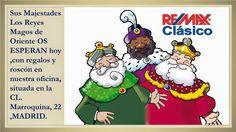 Sus Majestades Los Reyes Magos de Oriente llegan hoy a nuestra oficina, situada en la CL. Marroquina, 22 LOCAL (Moratalaz).  Melchor, Gaspar y Baltasar os atenderán entre las 11:00 y las 13:30 horas por la mañana y entre las 17:30 y 19:30 por la tarde.  Tendremos roscón y más de 500 regalos para vosotros.  ¡¡OS ESPERAMOS!!