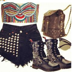 i want-boots and purse