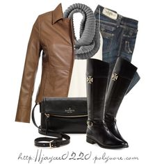 Tory Burch Boots by jaycee0220 on Polyvore featuring moda, The Row, Reiss, Taverniti So Jeans, Tory Burch and Kate Spade