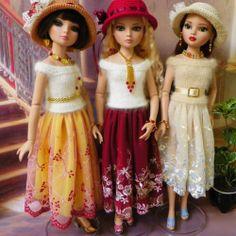 Ellowyne OOAK Outfits w/Hast & Jewelry by lisella64 via eBay, end 6/22/14