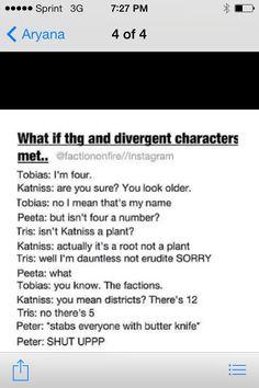 Omg katniss and tris are like so alike