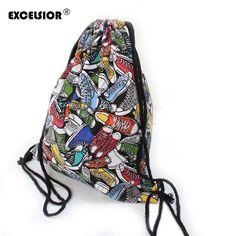 $4.50 (Buy here: https://alitems.com/g/1e8d114494ebda23ff8b16525dc3e8/?i=5&ulp=https%3A%2F%2Fwww.aliexpress.com%2Fitem%2FFashion-Unisex-Graffiti-Print-Drawstring-Bag-Panelled-School-Backpack-Mochila-Bucket-Man-Women-Travel-Sport-Sackpack%2F32694858858.html ) EXCELSIOR Fashion Unisex Graffiti Print Drawstring Bag Panelled School Backpack Mochila Bucket Man Women Travel Sackpack G0792 for just $4.50
