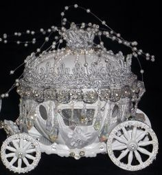 Cinderella Carriage Cake Stand | Cinderella Castle Coach Horses Lighted Cake Topper Birthday Wedding