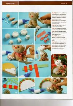 Archivo de álbumes Polymer Clay Christmas, Fondant Toppers, Pasta Flexible, Cold Porcelain, Gum Paste, Clay Art, Fundraising, Gingerbread, Christmas Crafts