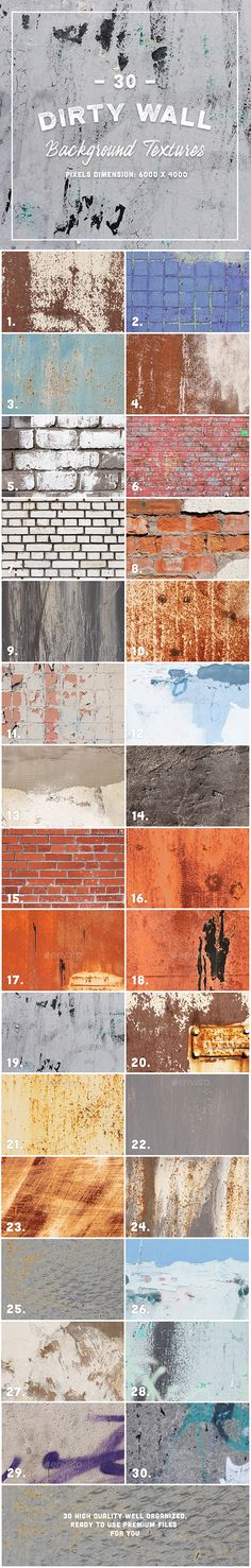 30 Dirty Wall Background Texture - #Industrial / Grunge #Textures