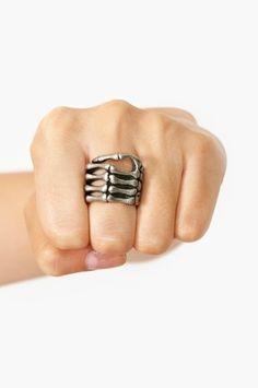 Skeleton Grip Ring, $15; at Nasty Gal | StyleCaster