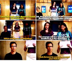 The Flash - Wells, Caitlin and Cisco #1.6 #Season1 . Debating the amount of bugs barry swallows in a day of running... uhh. This is very similar to something my sis and i did. We legit were on a bus caculating how much distance barry would be in the air if he jumped while running at full speed xD