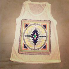 Boho tank! Boutique item! New! Onesize! Fitted for a xs-medium! Fits any of those sizes great!! Light weight, cute simple and perfect for summer! bundle all for one price shipping(: Tops Tank Tops