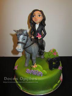 Doces Opções: A Sara foi a cavalo ao seu 13º aniversário