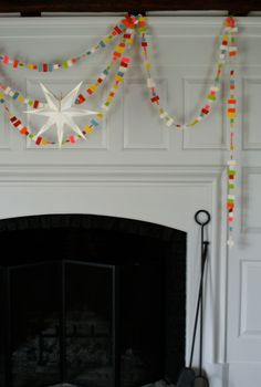 Molly's Sketchbook: Confetti New YearsGarland - The Purl Bee - Knitting Crochet Sewing Embroidery Crafts Patterns and Ideas!