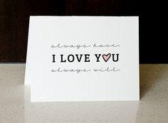 I Love You - Greeting Card | Digital Download HONEY HAWK DESIGN honeyhawk.etsy.com
